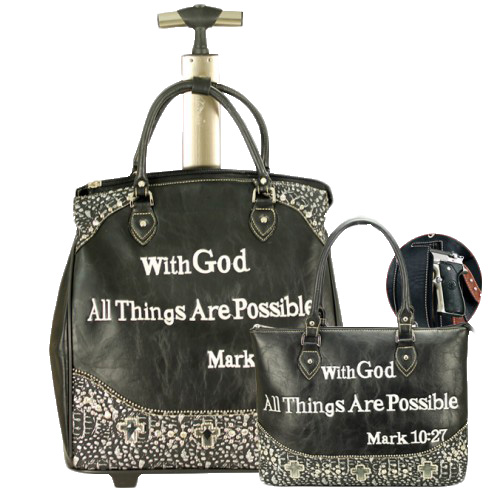 Scripture Collection 2 Piece Luggage Set
