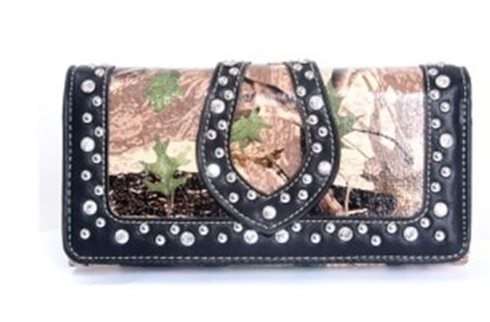Western Bling Bling Collection Camo Wallet